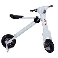 Plegable Scooter Eléctrico 48 V 350 w 11A Portátil vehículo bicicleta eléctrica scooter Eléctrico de dos ruedas para Adultos ET moto
