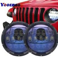 Дневной свет светодио дный 7 дюймов фары водонепроницаемый автомобиля светодио дный фары высокой мощности авто h4 130 Вт автомобиль свет сбор
