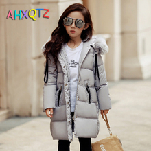 Fast Delivery Thicker Design Parkas For Girls Winter 2016 High Quality Children Down Jacket For Girls Coat
