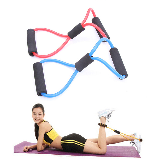 Resistance Training Bands Tube Workout Exercise For Yoga 8