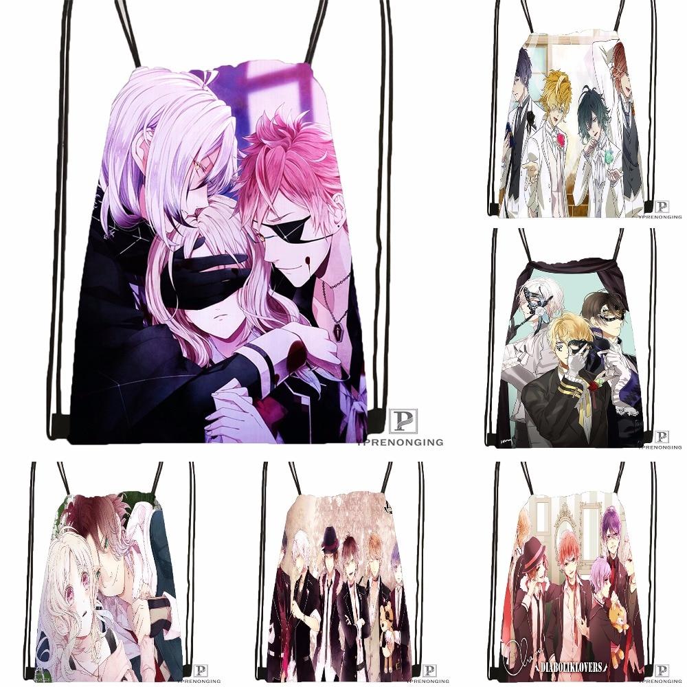 Custom DIABOLIK LOVERS &3 Drawstring Backpack Bag For Man Woman Cute Daypack Kids Satchel (Black Back) 31x40cm#180531-01-41