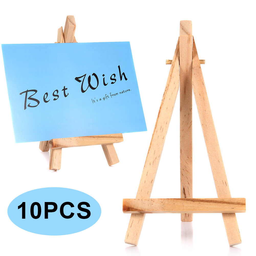 10pcs Mini Wooden Easels Cafe Table Number Easel Practical Place Name Holder Multifuncti ...