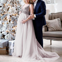 01fd6c9cecd MUQGEW dress robe Sexy Women Pregnant Sling V Neck Sequin Cocktail Long  Maxi Prom Gown Dress