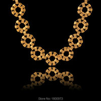 Customized 17MM Women Men Flower Chokers Necklaces 18K Gold Filled Plated Chain Necklace Wholesale Jewelry