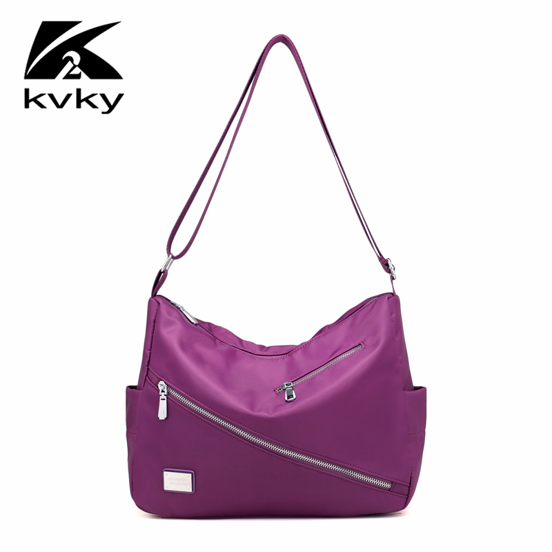 KVKY New Autumn Fashion Women Shoulder Bag Waterproof Nylon Women Casual Messenger Bag Designer Handbags High Quality Sac A Main 2016 autumn and winter new casual waterproof nylon shell bag soft bag portable women shouid bags dd5023
