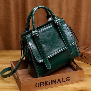 Image 1 - LUYO Bolso de piel auténtica de marca de lujo para mujer, bandolera de diseñador, bolso de hombro