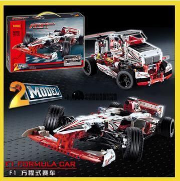 2017 New DECOOL 3366 Toy building blocks 2in1 F1 Formula One racing car compatible 42000 1219pcs bricks boy gift model technic in stock new lepin 21009 fxx 1 17 toy building blocks 632pcs technic racing sports car supercar model boy gift compatible 8156