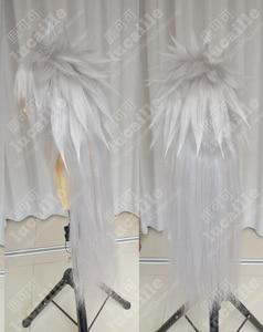 Image 4 - Аниме Наруто джираия длинный белый конский хвост термостойкие Sythentic волосы косплей костюм парики парик