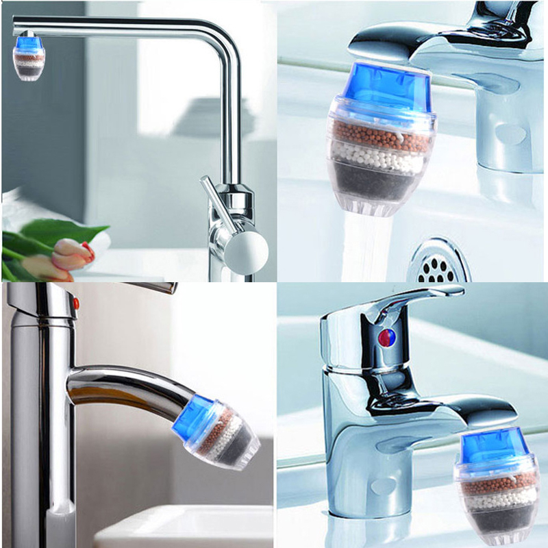 Mini kitchen Faucet Water Filter Active Carbon Water Filtration Cartridge Household Tap Cleaner Purifier 16-21mm все цены