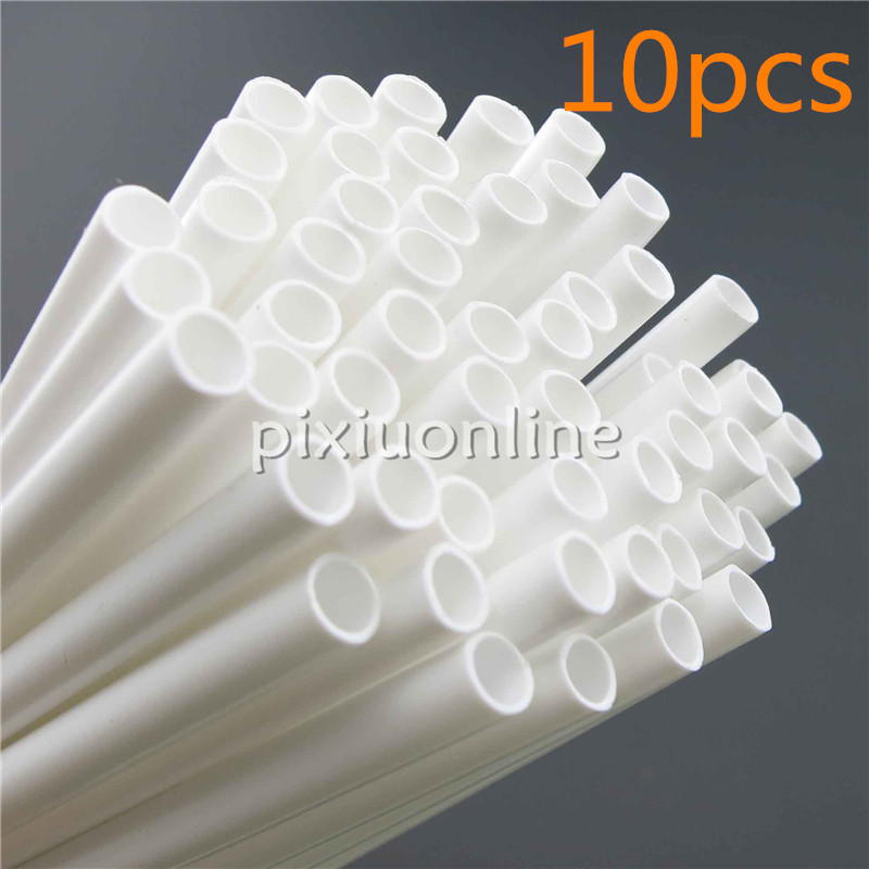 10pcs/pack J042 White PP Pipe Model Hollow Tubing DIY Handmade Parts Free Shipping Russia 1pc pack k795 aluminum pipe out diameter 8mm inner diameter 5mm hollow circular tube for diy model making free shipping russia