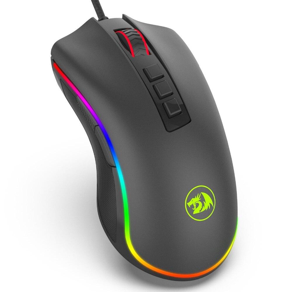 Redragon M711 Chroma COBRA Wired Gaming Mouse con 16.8 Millones de Colores RGB Retroiluminada 10,000 DPI 7 Botones Programables LLEVÓ Óptica
