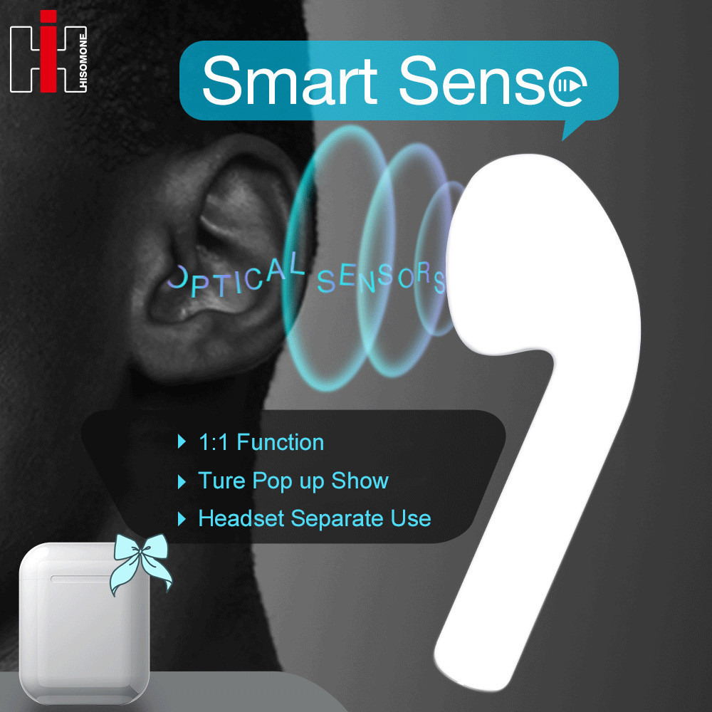 i77 TWS Smart Sensor Pop up 1 1 Copy Bluetooth 5 0 Wireless Earphone Separate Use