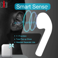 i77 TWS Smart Sensor Pop up 1:1 Copy Bluetooth 5.0 Wireless Earphone Separate Use Bass EarPhones PK i30 i20 i60 TWS W1 Chip