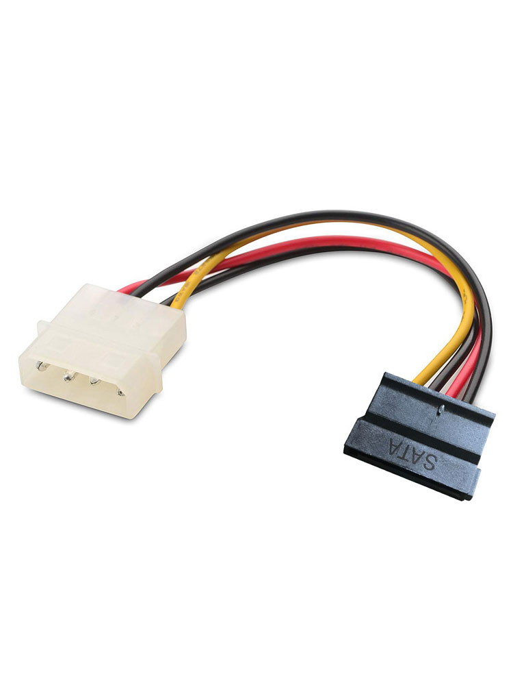 "12/"" 4pin Molex Male~Dual FD//Floppy Drive Power Supply Y Splitter Cable//Cord//Wire"