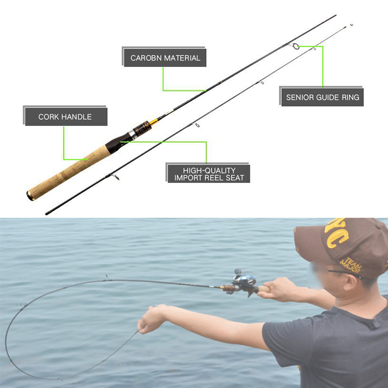 NEW fishing rod 1.8m cheap casting spinning fishing rod 99% carbon fiber fishing rod UL power rod for fishing Free shipping free shipping ptfe stir rod for overhead stirrer