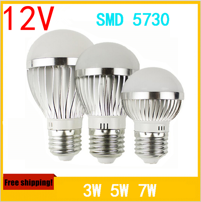 2pcs 12 volt led bulb 3w 5w 7w 24 volt dc led bulbs solar - Ampoule led 12 volts ...
