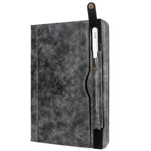 Image 5 - حافظة لجهاز iPad Pro 11 موديل 2018 مع حامل قلم رصاص ، (دعامة شحن قلم رصاص) حافظة جلدية فاخرة مزودة بحامل محفظة واقية + هدية