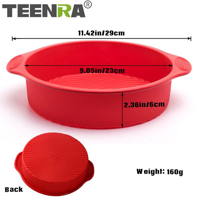 TEENRA 1Pcs Round Silicone Cake Mold Non-stick Baking Pan Muffin Cake Pan 3D Silicone Baking Dish Bread Mold Cake Form Bakeware
