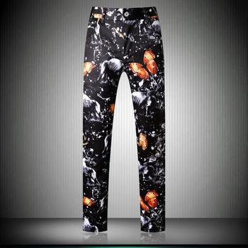 Мужской костюм, брюки осень зима с рисунком, классические брюки, мужские Модные повседневные брюки, размер 29 38