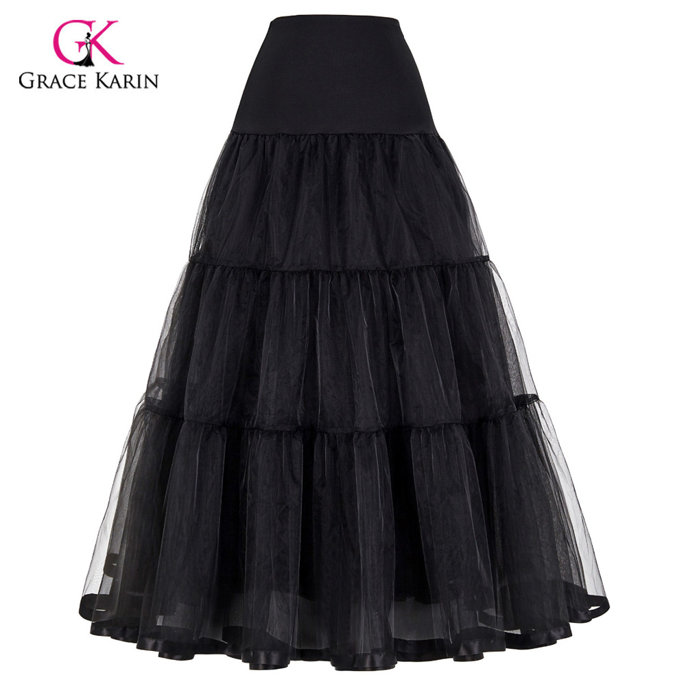 Retro vintage petticoats for wedding dress black white for Tulle petticoat for wedding dress