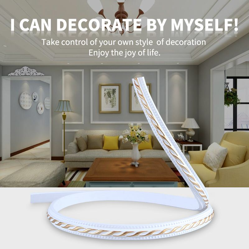 European PVC Soft Plaster Line Living Room Decoration Pu Line Mirror Background Wall Border