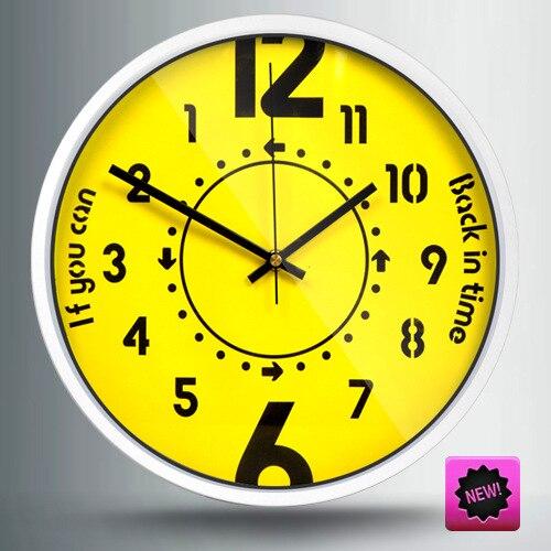 Direction créative horloge murale jaune temps décor à la maison Pow patrouille Guess femmes Design moderne Relogio Parede idées cadeaux horloges murales