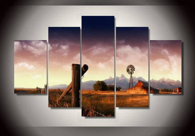 Wall Pictures For Living Room 2017 Hot Sale Landscape Safari Group Canvas Painting Home Decor Modular