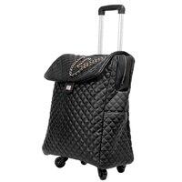 18/20 inch дорожная сумка с колеса spinner кожаный чемодан вести Дорожная сумка на колесиках/случае кабина сумки багажа дамы рюкзак