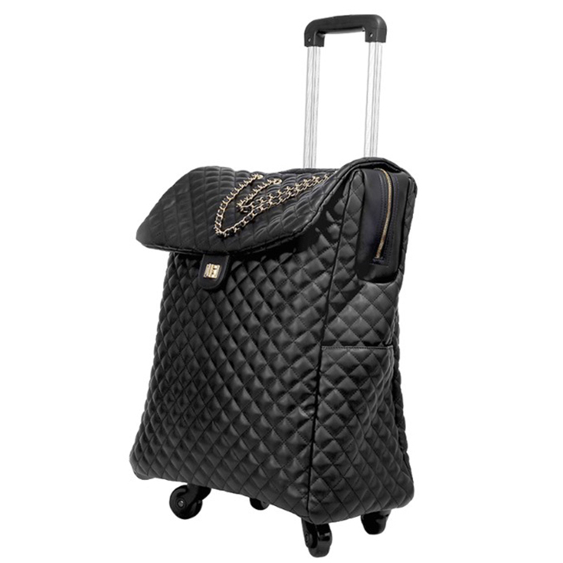 18/20inch Travel Bag With Wheel Spinner Leather Suitcase Carry On Travel Trolley Bag/case Cabin Handbag Luggage Ladies Backpack