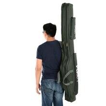 Lixada 100/130/150cm Fishing Bag Oxford Cloth Folding Fishing Rod Reel Bag Fishing Tackle Storage Bag Travel Carry Case Pesca
