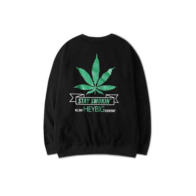 70e2759e4e Maple Leaf Print Fashion Skateboard Sweatshirt Stay Smoking Design Mens  Hoodies And Sweatshirts Harajuku Hoodie Man And Women