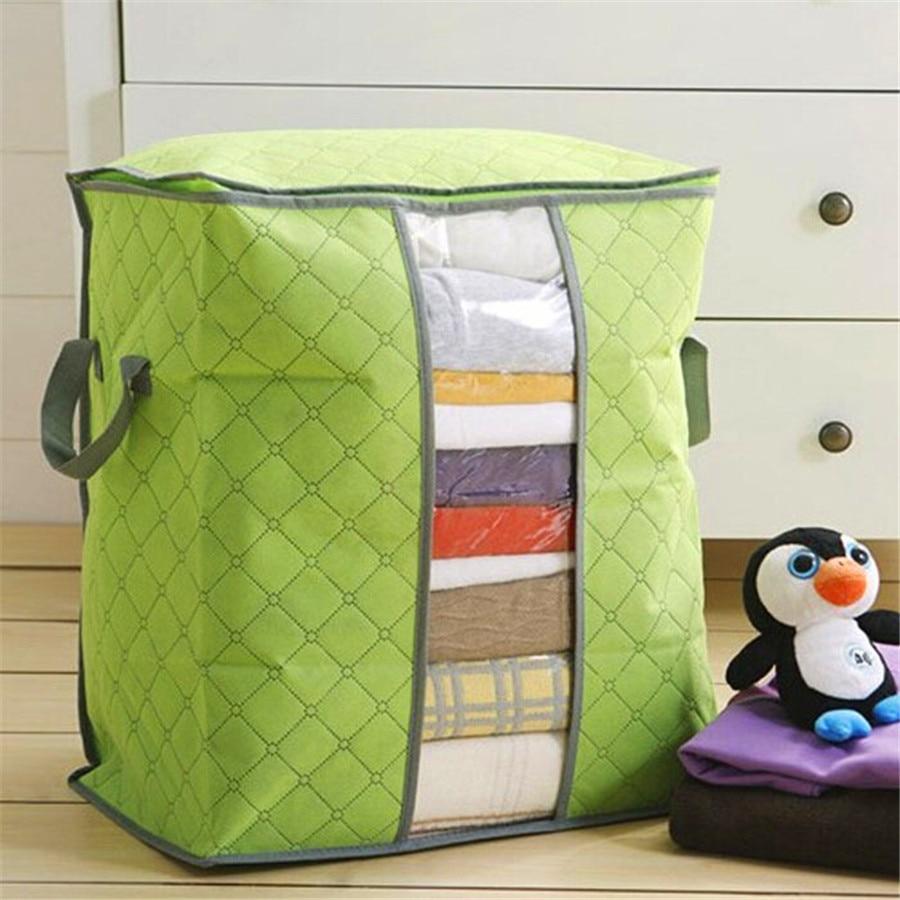ISHOWTIENDA 2015 Hot Sale Storage Box Portable Organizer Non Woven Clothing Pouch Holder Blanket Pillow Underbed Storage Bag Box