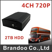 720P 4ch Car Police Taxi Bus Truck HDD Mobile DVR MDVR