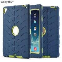 Carry360 جديد ل باد الهواء 2 حالة أطفال سيليكون الثقيلة درع صدمات كامل الجسم الغطاء الواقي لباد برو 9.7 بوصة