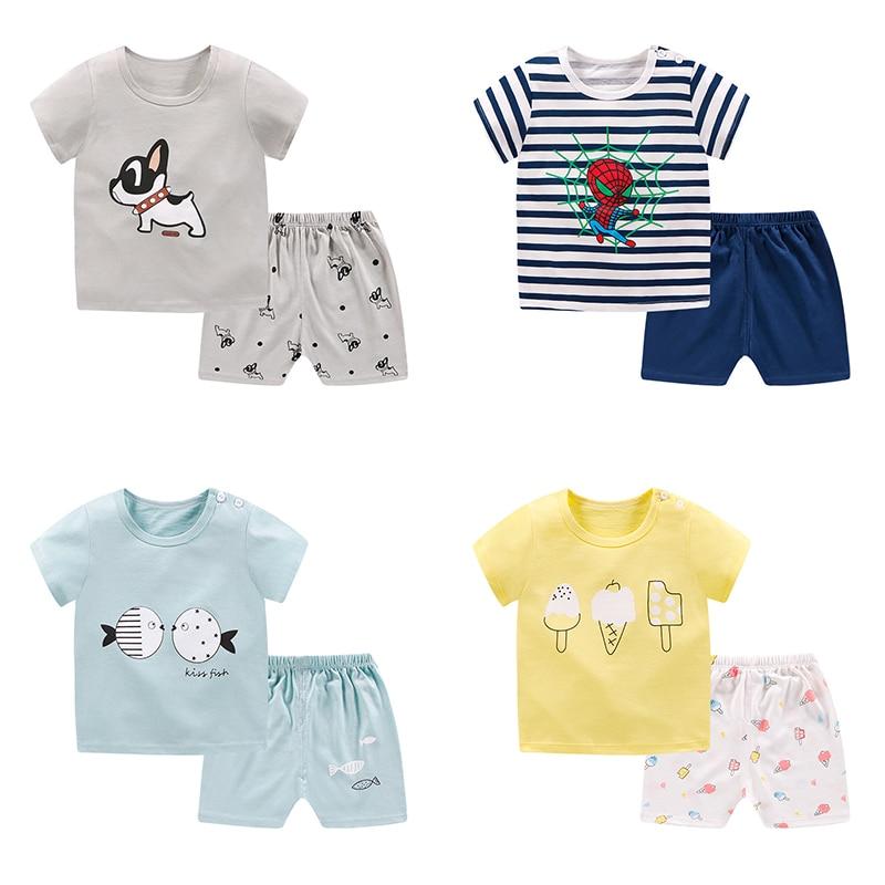 pyjamas kids cotton toddler cartoon children   pajamas     sets   for baby girls boys pijama spiderman stitch pyjama enfant garcon modis