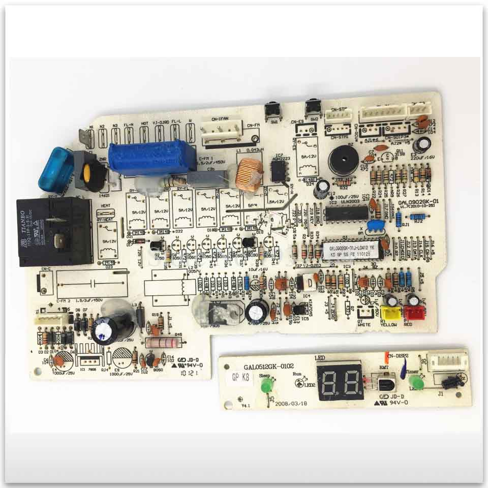 used original for air conditioning Computer board control board GAL0902GK-01 Display panel GAL0512GK-0102 2pcs/set 95% new for galanz air conditioning computer board gal0903gk 01 display panel gal0512gk 0102 set