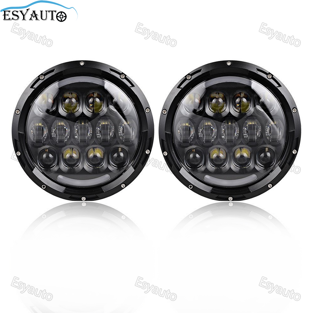7 Inch Round Headlight 105W LED lamp with White DRL amber turning Lighting 7 Hi/Lo Beam headlamp for Jeep Wrangler