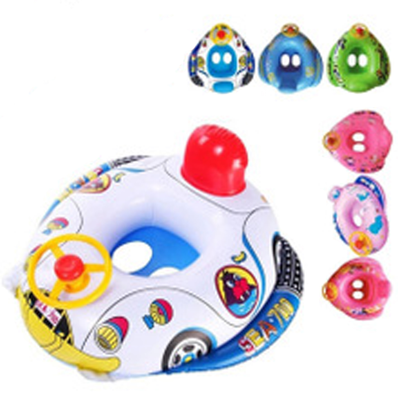 Children's Swim Ring Baby Inflatable Swimming Ring Floating Aid Lifebuoy Floating Child Police Car Toy Seat Ship Aircraft Seat