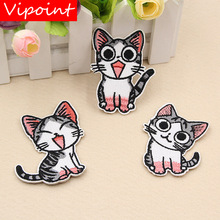 VIPOINT embroidery cats patches animal cartoon badges applique for clothing XW-46