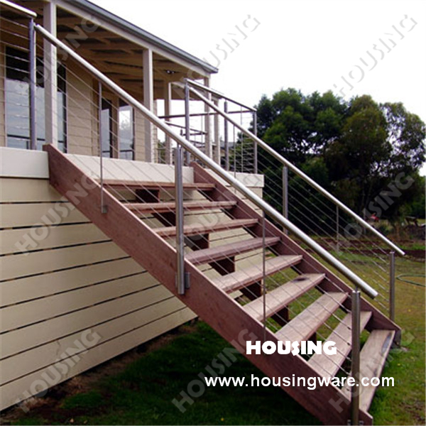 Outdoor Faddish And Practical Stainless Steel Staircase Wire Balustrade For  Stairs