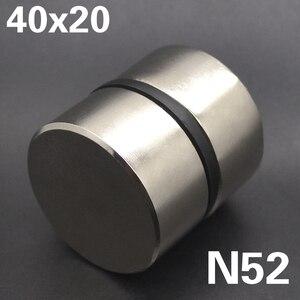 Image 5 - 2pcs Magnete Al Neodimio N52 40x20mm Super Strong Rotonda terra Rara di NdFeB Potente Gallio metallo altoparlante magnetico n35 40*20 millimetri Disco