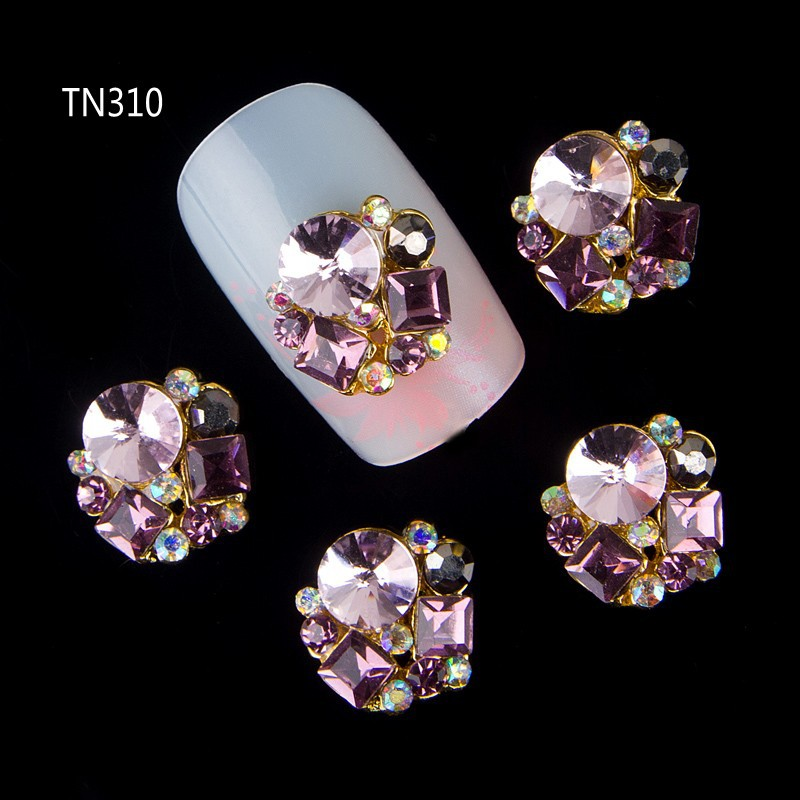 Blueness 10Pcs New 2017 Glitter Pearl with Rhinestones,3D Metal Alloy Nail Art Decoration/Charms/Studs,Nails 3d Jewelry TN310 blueness 10pcs nail art decoration charms glitter rhinestone for strass silver alloy bow design adhesives studs accessory tn172