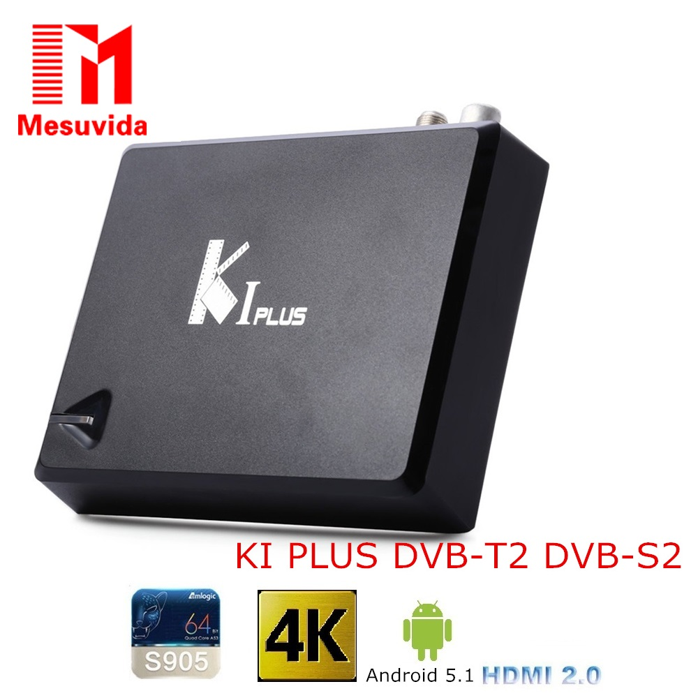 Mesuvida KI PLUS DVB S2 DVB-T2 TV Box Amlogic S905 Quad core 64-bit Support DVB-T2 DVB-S2 1G/8G 1080p 4K Android 5.1 Set-Top Box k1 plus s2 t2 amlogic s905 quad core 64bit tv box