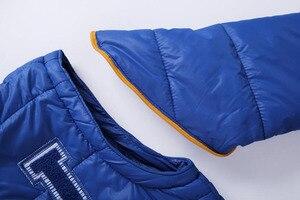 Image 5 - Abrigo cortavientos a prueba de viento para niño, chaqueta desmontable con capucha para niño, Otoño e Invierno
