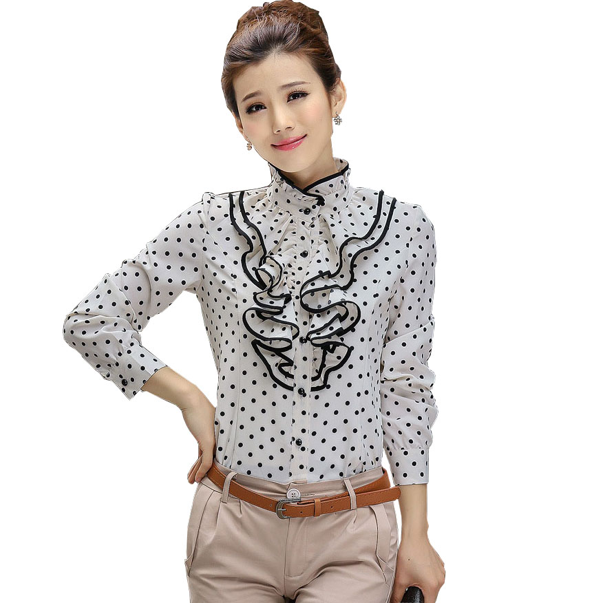 Online Buy Wholesale Ruffle Front Blouse From China Ruffle Front Blouse Wholesalers