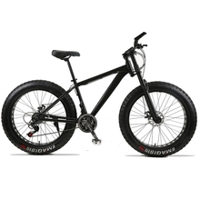 Mountain Bike 24speed 26×4.0 Aluminum alloy frame fat bike bicycle Snow bike Front and Rear Mechanical Disc Brade Male