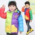 Милый сладкий ветер девушка хлопок 2016 новый недорогой для девушки парни дети дети зимние куртки куртка пальто и детей parka672