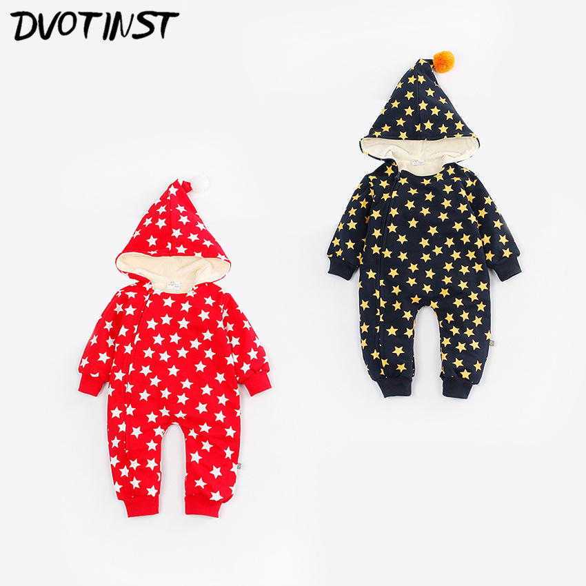 Baby Girl Boys Winter Full Sleeves Star Rompers Clothes Jumpsuit Outfits Infantil Halloween Cosplay Toddler Costume Clothing baby rompers one piece newborn toddler outfits baby boys clothes little girl jumpsuit kids costume baby clothing roupas infantil