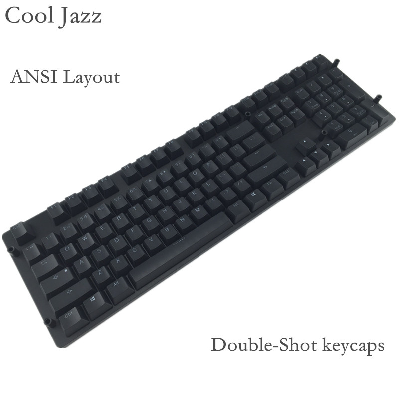 цена на Cool Jazz 108 key pbt keycap Cherry mx Mechanical Keyboard Double-shot backlit keycaps For MX Mechanical gaming Keyboard