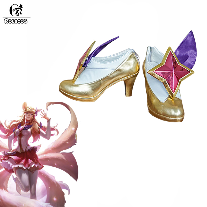 ROLECOS Ahri Star Guardian LOL Cosplay Shoes Ahri Cosplay Shoes Magic Girl the Nine-Tailed Fox for Women